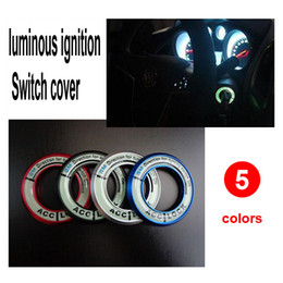 Wholesale Sky Blue Color Accessories - Free shipping luminous ignition Switch cover Ring for Chevrolet Cruze Malibu Aveo auto accessories car parts