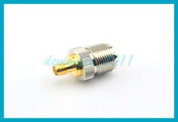 Wholesale Uhf Adapter - 10 pcs lot Free shipping PL259 SMA Jack Female Goldplated to UHF Female Jack Nickelplated Connector Adapter