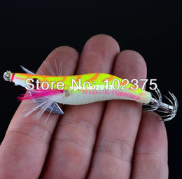 Wholesale Design Lure - Hot 8pc lot Fishing lures Exported to Japan New design 2.0# Squid Jigs Squid Hook 4 Color Mix Free shipping