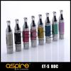 Wholesale - Newest Huge Vapor Aspire ET-S BDC Clearomizer 3.0ml pure ET-s glass version Clearomizer pyrex glassomizer DHL