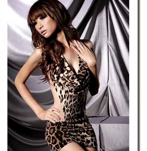 3a211470d Sexy Women s Leopard Print Lingerie Underwear Panther Print Sleep ...