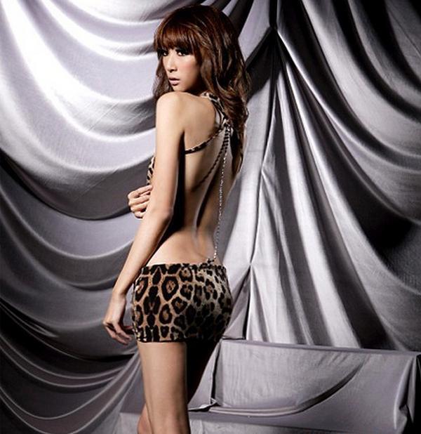 Frete Grátis Sexy Lingerie Estampa de Leopardo Roupa Interior das Mulheres Panther Impressão Desgaste do Sono Mini Vestido DS cosplay Roupa Interior Do Sexo Erótico Roupa Interior
