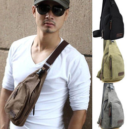 Wholesale Shoulder Bag Men Military - S5Q Men's Canvas Military Messenger Shoulder Travel Hiking Fanny Bag Backpack AAACYZ