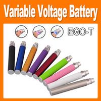 giro del ego t variable al por mayor-EGO-T twist Voltaje variable ecig colorido Cigarrillo 650mAh / 900mAh / 1100mAh Batería para CE4 / CE5 / CE6 Clearomizer e cig nueva llegada (0204046)