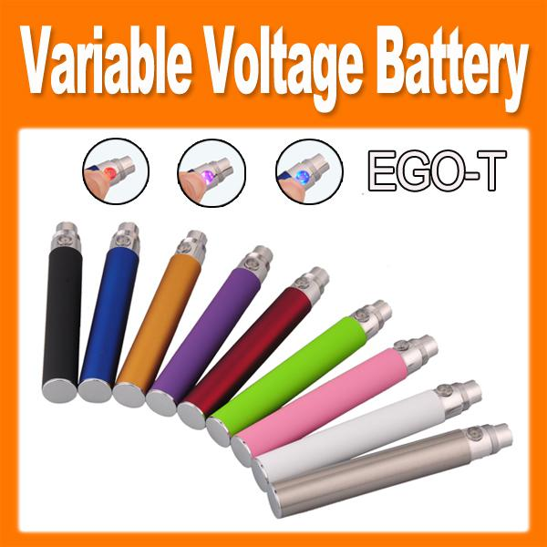 EGO-T twist Variable Voltage Colorful ecig E Cigarette 650mAh/900mAh/1100mAh Battery for CE4/CE5/CE6 Clearomizer e cig new arrival(0204046)