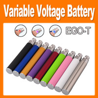 EGO-T twist Variable Voltage Colorful E Cigarette 650mAh / 900mAh / 1100mAh e cig Bateria para CE4 / CE5 / CE6 / VIVI NOVA Clearomizer barato (0204046)