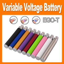 Wholesale Ego Twist Vivi Nova - EGO-T twist Variable Voltage Colorful E Cigarette 650mAh 900mAh 1100mAh e cig Battery for CE4 CE5 CE6 VIVI NOVA Clearomizer cheap(0204046)