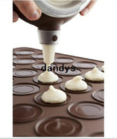 Wholesale Macaron Baking Set - Small size baking mat 26*29cm Macaron silikon matta Silicone Mat+ Nozzle set,Macron Baking kit N06-2dandys