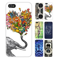 Wholesale Vintage Camera Cases - S5Q Vintage Camera Elephant Hard Case Back Cover Protector Skin For iPhone 5C AAACZC