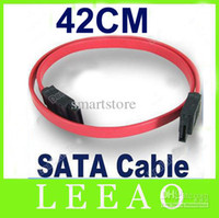 Wholesale led cable price for sale - Group buy Low Price cm Red Serial ATA SATA HDD Hard Drive HD Data Signal Cable Lead Up to MBps