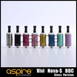 Argentina Al por mayor - Vivi Nova S Atomizer inferior bobina doble Cartomizer 3.5ml BDC puro Vivi nova-s versión de vidrio Clearomizer para DHL gratis Suministro