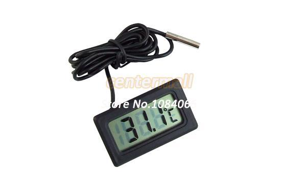 top popular 15Pcs Lot Mini LCD Display Digital Thermometer Household Refrigerator Freezer Thermometers 195 2021