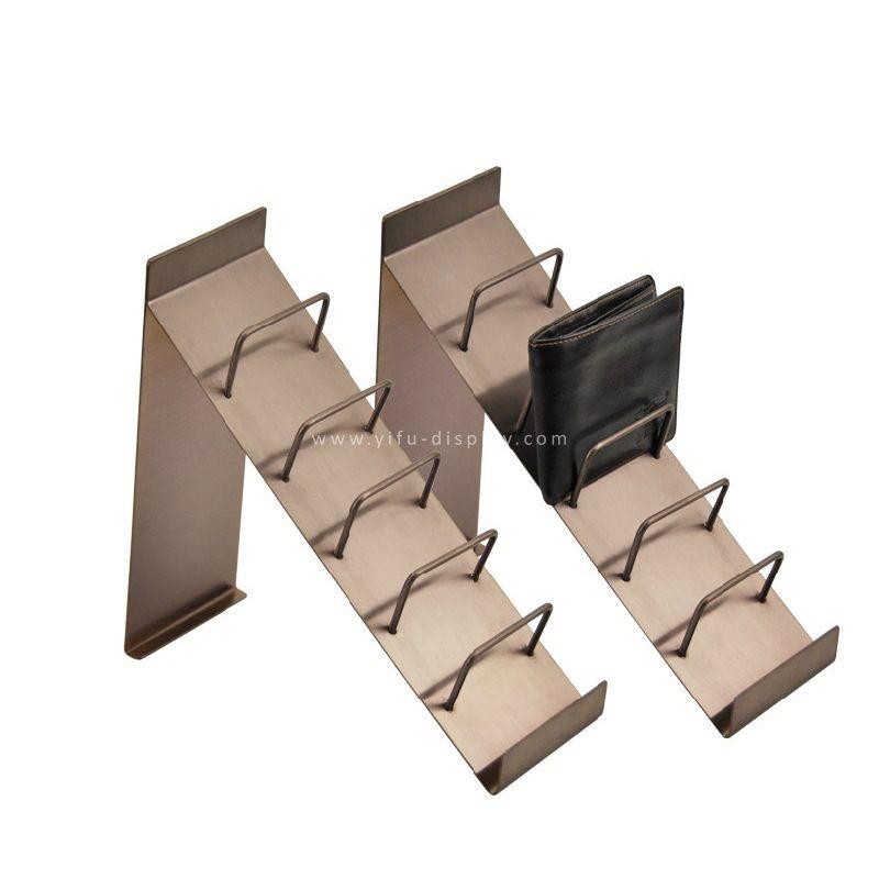 Rose Gold Metal Wallet Display Stand Purse Display Wallet Holder