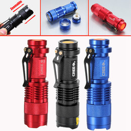 Wholesale Dhl Free Cree Led - Wholesale - UltraFire Mini Flashlight 300LM CREE Q5 LED Zoom In Out Torch 3-Mode 14500 Free DHL