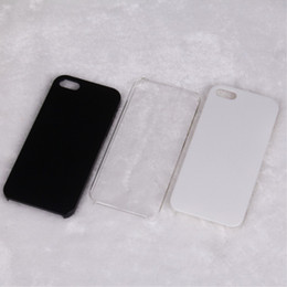 Wholesale Wholesale Buying Apple Iphone - Personality Hard Phone Cases for iPhone 5 5G 5S , Nice for DIY Hard Blank Case for iPhone 4 4S, White Black Clear , Free Shipping (A0014)