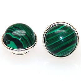 Wholesale Kameleon Bracelet - Immitation Jewelpop With Malachite Stone Fits Kameleon Charm Bracelet Necklace Ring 925 Silver Plating For Kameleon Jewelry