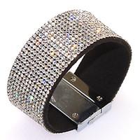 Wholesale Shamballa Rope - Full Crystal Bracelet Magnetic Wrap Bracelet,crystal bling Bracelet Wrap Shamballa Magnetic Clasp Bracelet
