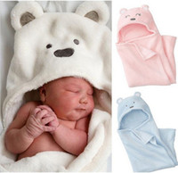 Wholesale Bath Robes Children - New Retail 1pcs pack cute Animal Baby bath baby blanket bath towel kids bath terry children infant bathing baby robe Free Shipping