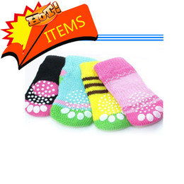 Wholesale Socks Designs Shoes - 2015 new arrival Wholesale NEW Fashion Design pet Dog Socks 24pcs lot=6sets lot high quality comfortable for pet dog pet shoes