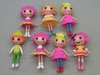 Wholesale Little Mix Dolls - Lalaloopsy Mini doll mini version of the super cute Little PVC Doll Figure Toy girls gift 7CM Mix 16styles set