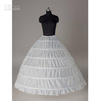 Wholesale Civil War Ball Gowns - A line Petticoats Mega Full 6 Hoop Renaissance Civil War Costume Victorian Petticoat Skirt Slip wedding dress underskirt