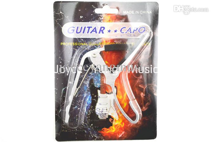 Akustisk gitarr elektrisk gitarr 6-strängar gitarr capo ändra kepsens nyckelklämma 5 färger gratis frakt grossist