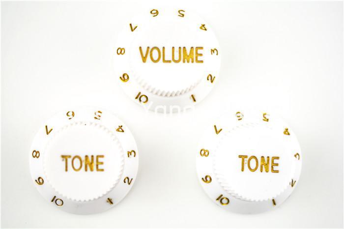 البيضاء 1 المجلد 2 لهجة المقابض الكهربائية السيطرة على المقابض غيتار على الحاجز STRAT نمط الغيتار شحن مجاني بالجملة