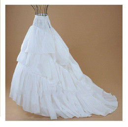 $enCountryForm.capitalKeyWord Canada - wedding dress underskirt White Free shipping 3 Hoops 3 Layers TRAIN ** Wedding Evening Dress Petticoat Slip w  TRAIN