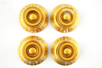 Wholesale Electric Guitar Amber - 1 Set of 4pcs Amber Bell Hat Knobs Electric Guitar Knobs For LP Style Electric Guitar Free Shipping Wholesales