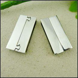 Wholesale Magnet Clasps For Bracelets - 10pcs 38*18mm New Style 18KGP Tone Big Magnet Magnetic Buckle Clasp Hooks Connector For DIY Leather Cord Bracelet Findings