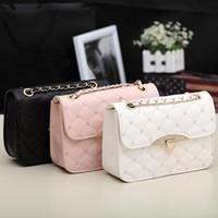 Wholesale Korean White Tote Leather Bag - S5Q Korean Lady Women Hobo PU Leather Messenger Handbag Shoulder Bag Totes Purse AAACZW