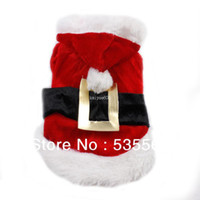 Wholesale Pet Santa - Wholesale - New Dog Clothes Pet Clothing Santa Suit Christmas Cloth Warm in Winter Small Mini Medium Dogs and Cats Chihuahua Pitbull Poodle