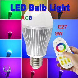 Wholesale E27 Rgb Rf - 9W RGB LED Bulbs Lamp Wireless RF 2.4G Group Division 4-channel Remote Control Bulb High Power 9 Watts Lights 9leds Lighting Free Shipping