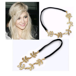 Wholesale Wholesaler Hair Accessory - 2014 New Arrival Hair Accessories Gold Color Alloy Charm Leaf Hairband Ribbons[JH01017*10]