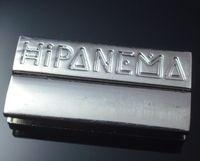 Wholesale Hipanema Magnet - Wholesale - Brazilian-style imitation platinum plated square magnet Hipanema bracelet 38x19mm, carving letters Hipanema