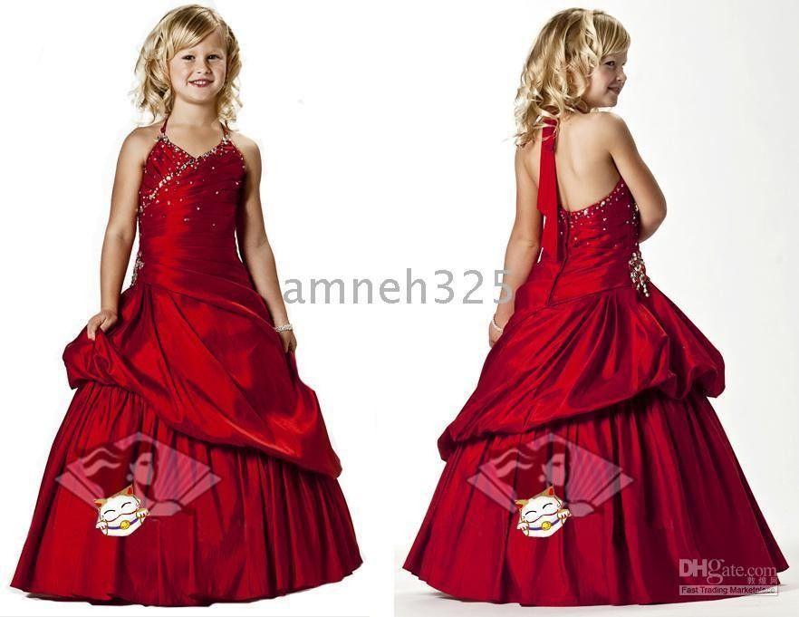 Christmas Flower Girls Dresses/Organza/Hand Made Beading/ Girl ...