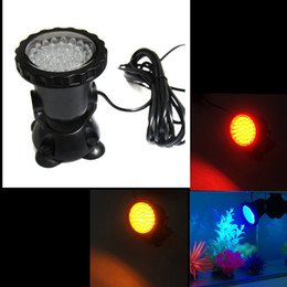 Wholesale choice led - New LED Light Aquarium Spot Light Garden Pond Pool Submersible LED Lighting 100% Underwater Lights Bule Red Yellow Color Light For Choice