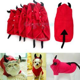 Wholesale Fancy Hoodies - Wholesale - Pet Dog Cat Cute Devil Clothes Puppy Hoodie Fancy Dress Costumes Apparel Coat[010505]