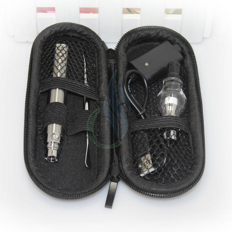 Glass atomizer ego case starter kits wax dry herb atomizer vaporizer pen electronic cigarette case Glass Globe tank ego t battery e cigs DHL