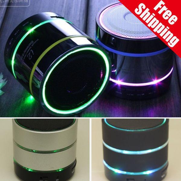 best selling S09 Mini Bluetooth Wireless Speakers Portable Wireless Speaker Stereo Subwoofers Three LED Lights Ring TF Card U Disk Slot FM Radio