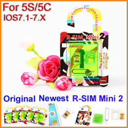 Wholesale Iphone Unlock Uk - Newest original R-SIM mini 2 R-SIM mini2 r-sim mini2 r-sim mini 2 unlock for iPhone 5s 5c upgrade iOS 7.1 iOS 7.1-7.X ATT T-mobile UK rogers