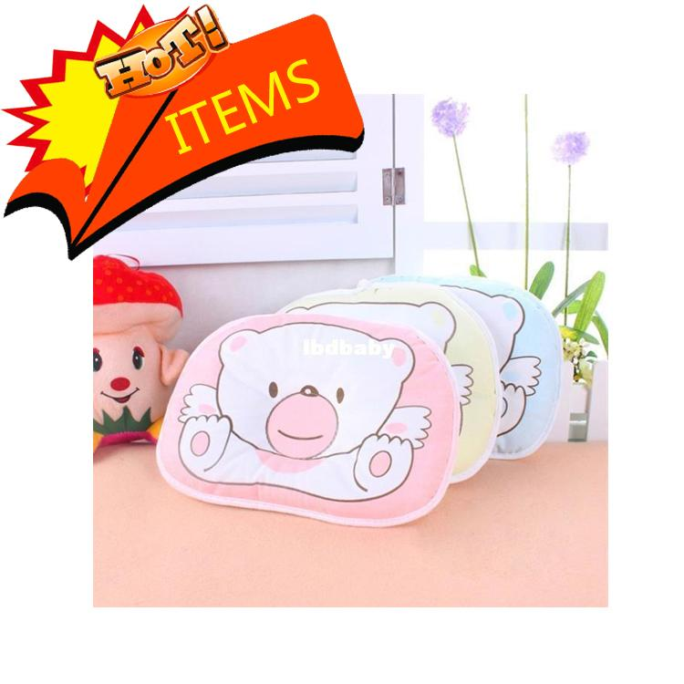 Hot 100 Cotton Baby Pillow Infant Bedding Print Bear