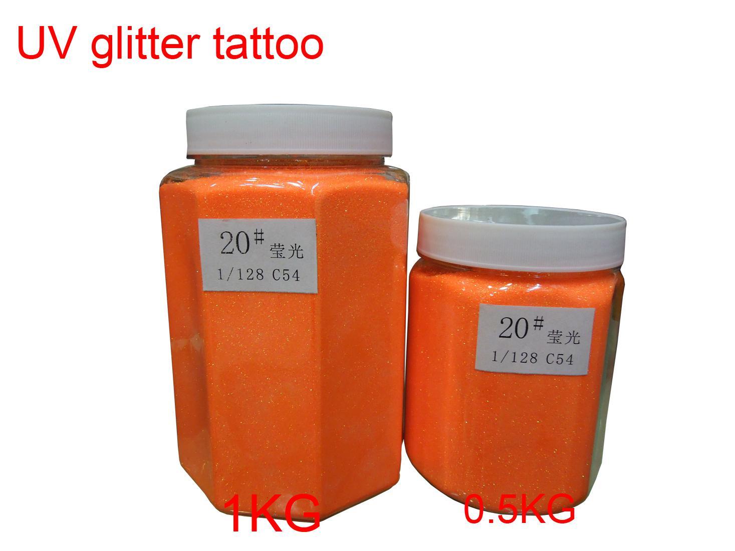 1 кг / бочка Высокое качество УФ-блеск татуировки порошок для боди-арт / временные татуировки / бодиарт - бесплатная доставка