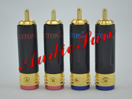 Wholesale Diy Rca Male - LITON RCA Male Plug Gold Plated solder type Adapter For DIY