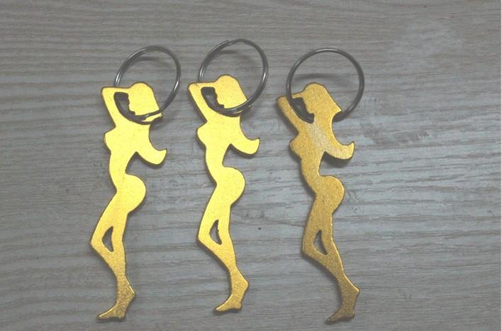 72MMX24MM Multi Color Aluminum Beautiful Girl Bottle Opener With Keychain wedding party supply