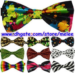 Hot Sale Top quality New Fashion Men Women Unisex Floral Star Check Polka Dot Stripes Print Bowtie Neckwear Bow Tie 25 style available Melee