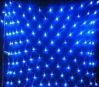 Wholesale Led Web Lights - LED 1.5M*1.5M 100 LEDs Web Net Fairy Christmas home garden Light curtain Net lights net lamps