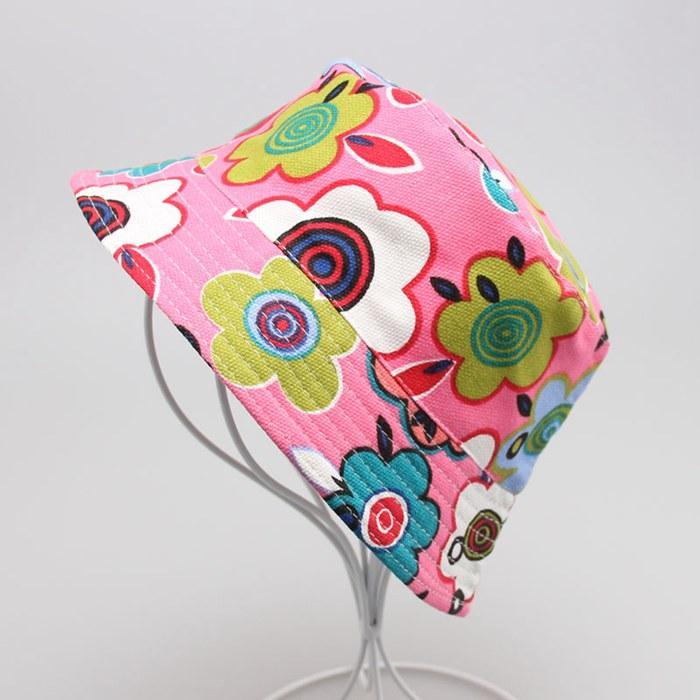 아이 태양 모자 양동이 모자 아이 비니 모자 모자 아기 sunbonnet 키즈 토피 소년과 소녀 귀여운 인쇄 된 분지 모자 패션 캐주얼 캔버스 모자