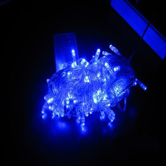 10 Meter männlich weiblich Stecker und Stecker der LED-Kette von Weihnachtsbeleuchtung blinken Hochzeit LED-Leuchten wasserdichte Lichter über den ganzen Himmel Stern