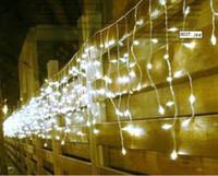 Wholesale Christmas Curtain Lights Uk - 10m*0.65m 320LED light flashing lane LED String lamps curtain icicle Christmas festival lights 110v-220v EU UK US AU